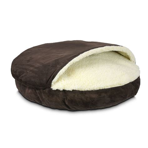 covered dog beds luxury cozy cave covered dog bed ebay