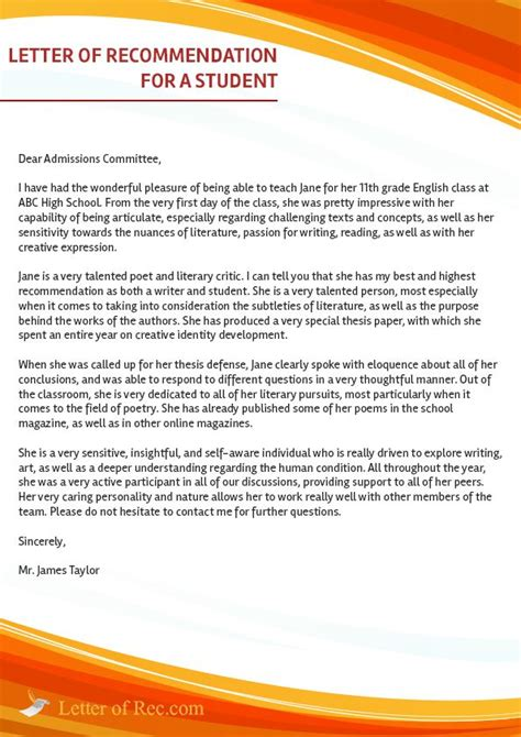 College Letter Of Recommendation From Counselor best 25 college recommendation letter ideas on