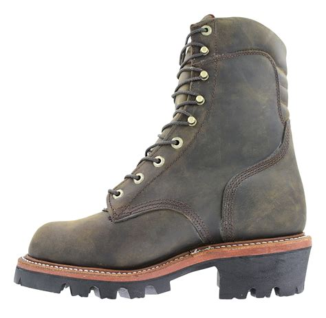 vibram mens boots mens chippewa 9 quot 400 gram waterproof vibram brown