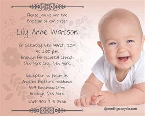 happy christening card template baptism invitation wording sles wordings and messages