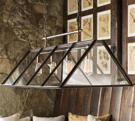Patio Lights Pottery Barn Industrial Chic Greenhouse Chandelier By Pottery Barn