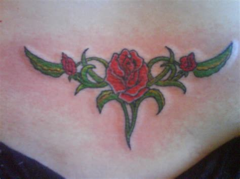 lower back rose tattoo designs world tattoos lower back tattoos sure are