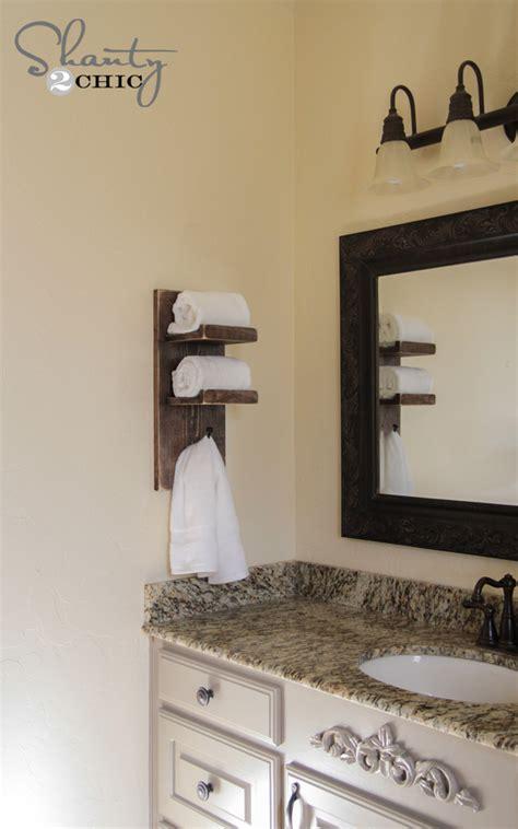 bathroom hand towel holder ideas super cute diy towel holder shanty 2 chic