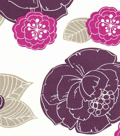 purple home decor fabric 54 home decor value print fabric sted floral purple