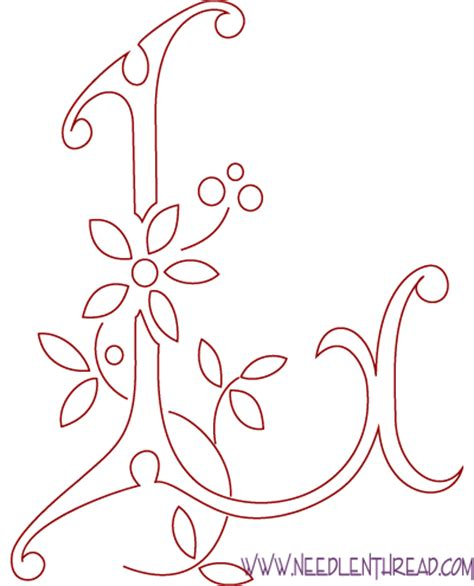 l designs monogram for hand embroidery letter l needlenthread com