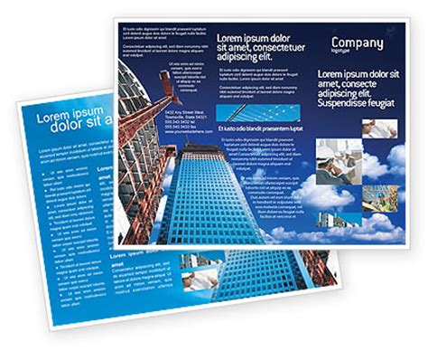 Construction Brochure Template by Building Company Brochure Template Design And Layout