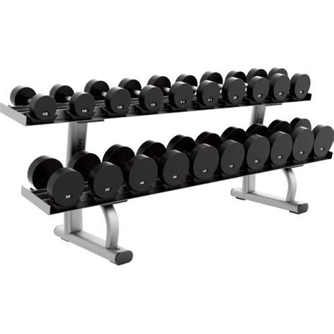 dumbbell bench rack signature series two tier dumbbell rack life fitness