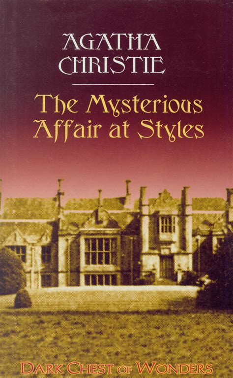 0007119275 the mysterious affair at styles the mysterious affair at styles by agatha christie dark