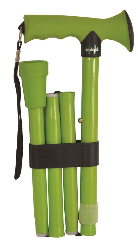 walking stick rubber aidapt folding rubber handled walking stick colour lime