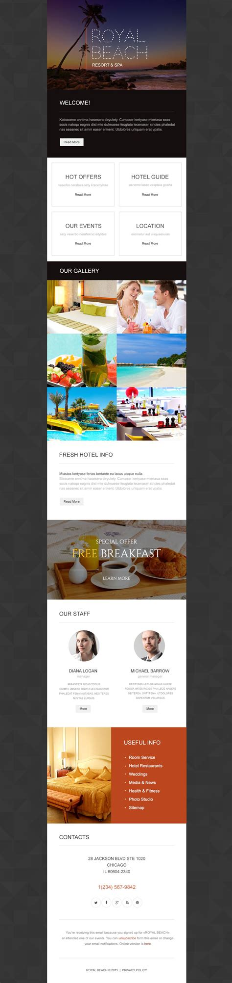 Free Responsive Newsletter Template travel agency responsive newsletter template 54550