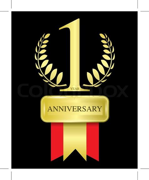 1 Year Anniversary For - 1 year anniversary vector stock vector colourbox