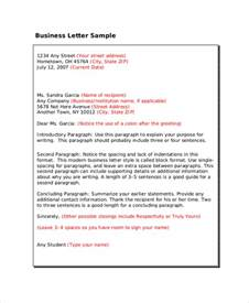 Business Letter Format In Html Professional Letter Format Sle 8 Exles In Pdf Word