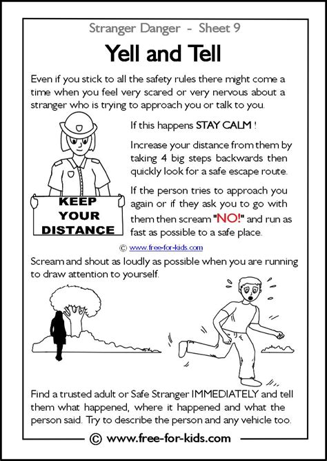 yell and tell 13 free printables about stranger danger