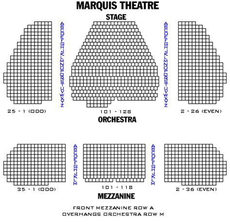 marquis theatre seating map marquis theatre playbill