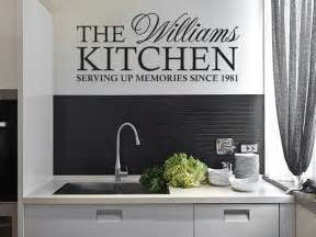Kitchen Cabinet Quotes Personalised Family Kitchen Wall Quote Wall Sticker