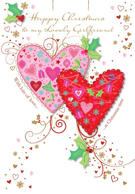 lovely girlfriend happy christmas greeting card cards love kates