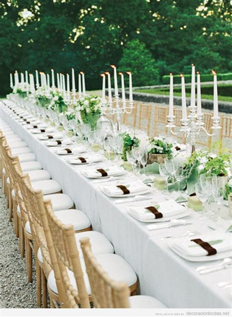 decorar mesas de jardin decoraci 243 n de mesa larga de boda elegante y sencilla en