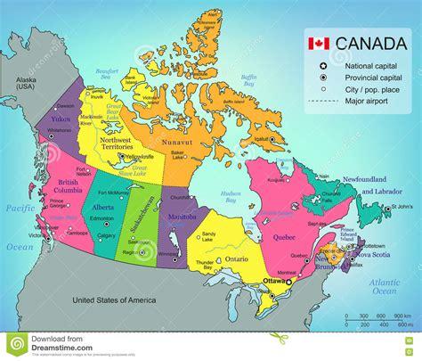 carte de canada avec des provinces tous les territoires