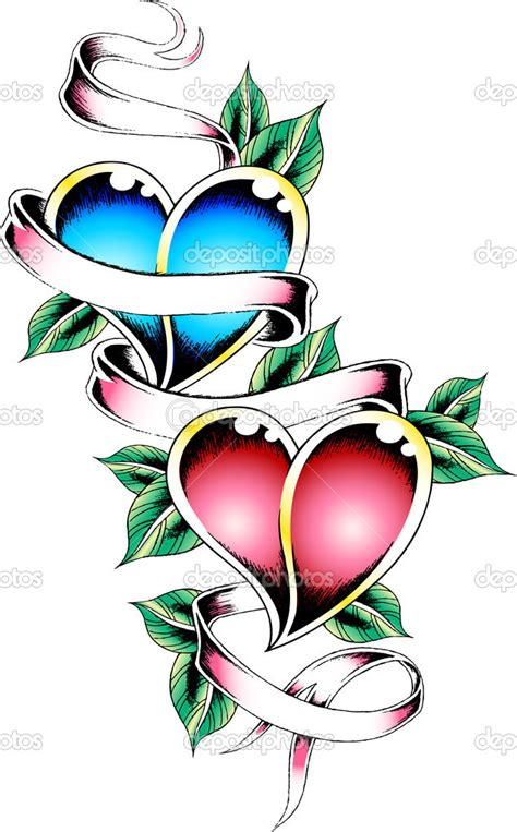 heart with banner tattoo cliparts co
