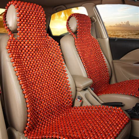 wood wooden beaded seat cover cool