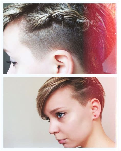 braided pixie cut braided pixie with undercut and no make up