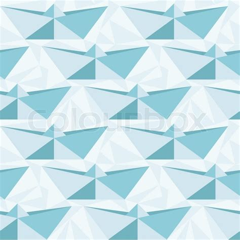 Geometric Origami Patterns - seamless geometric pattern with origami boats stock