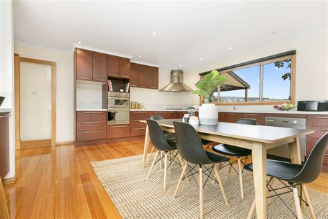 large family kitchen  dining room timber table