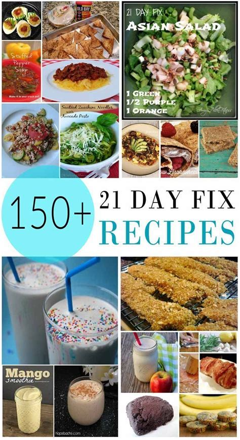 8 Fix Breakfasts For by More Than 200 21 Day Fix Recipes 21 Day Fix Shakeology