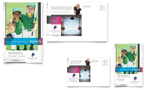 business mailers templates free photography business postcard template design
