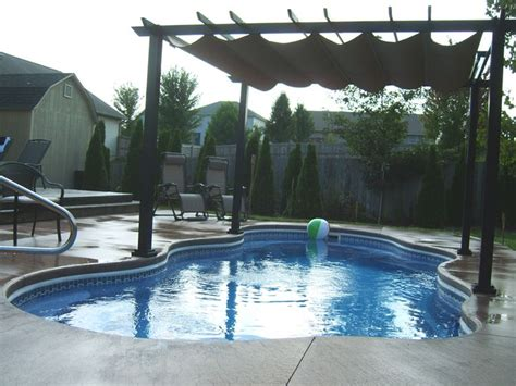 pool awning retractable awning over pool tiki land pinterest