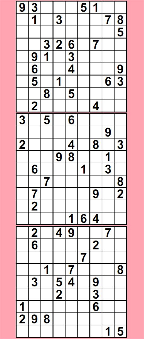 printable sudoku and crossword puzzles sudoku puzzles printable