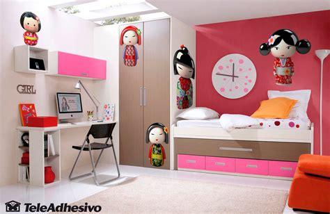 Wandtattoo Kinderzimmer Rot by Kinderzimmer Wandtattoo Rot Kokeshi Puppe