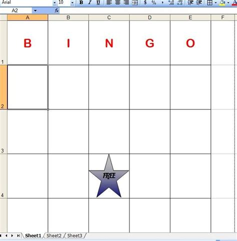 bingo cards template excel how to make bingo cards in excel with pictures ehow