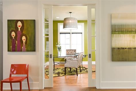 home office doors pocket doors home office modern with accent wall