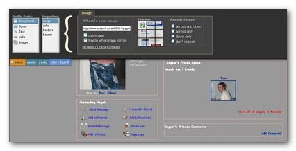 layout editor myspace real editor creare myspace layout geekissimo