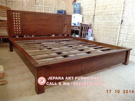 Tempat Tidur Kayu Di Bandung dijual tempat tidur minimalis jati kotak harga murah