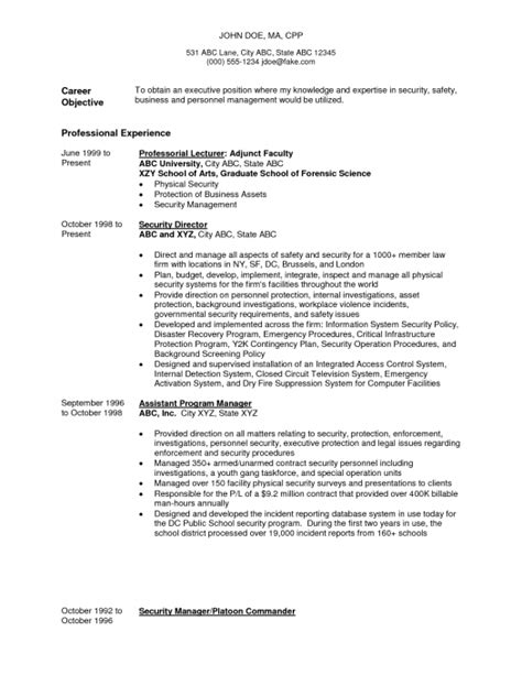 enforcement resume sles resume exle resume sle enforcement