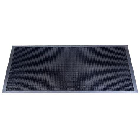 36 x 72 rug matsinc fingertip black 36 in x 72 in black rubber door mat csft3672bk the home depot