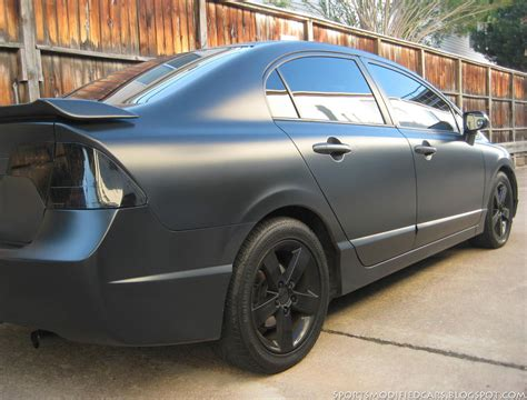 sport matte matte black civic sports modified cars