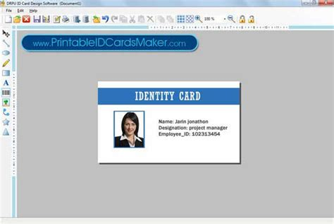 free printable id cards online download printable id cards maker free business office