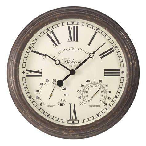 rustic clock bickerton rustic outdoor wall clock the garden factory