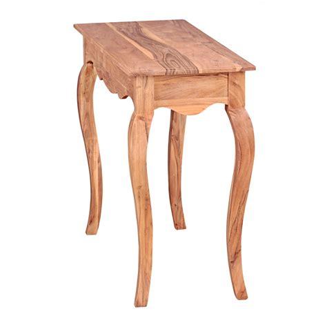 Schreibtisch 100 X 40 by Wohnling Konsolentisch Massivholz Akazie 1 Schublade