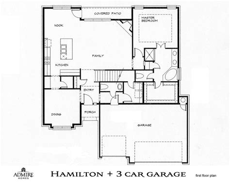 floor plan car 3 stall garage floor plans