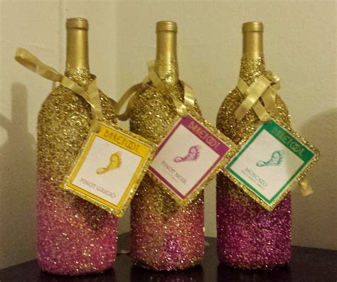 How To Decorate A Bottle With Glitter by Diy Glittery Wine Bottles Blogher