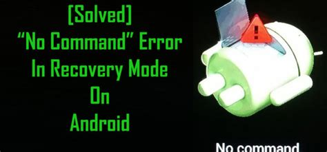 reset android in recovery mode fix android tablet no command screen android data