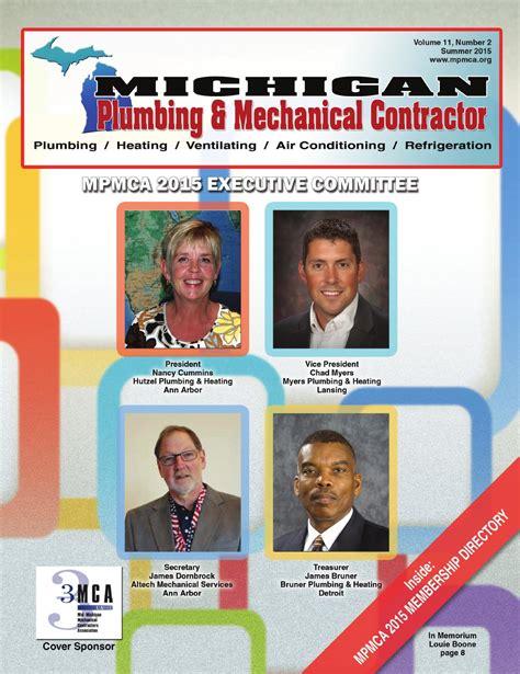 michigan plumbing mechanical contractor summer 2015 by