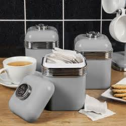 kitchen coffee tea swan 3pc retro tea coffee sugar kitchen storage canisters