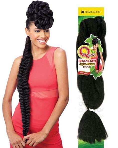Brazilian Soft Braid Hair Styles | freetress que remy touch brazilian soft volume braid 86 inch