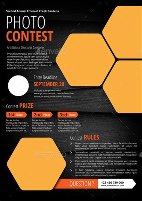 contest flyer template photo contest flyer by monggokerso graphicriver