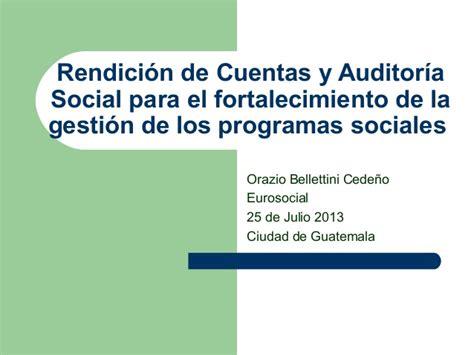 ley n 19149 de rendicin de cuentas 2012 parlamento rendici 243 n de cuentas y auditor 237 a social para el